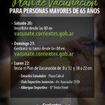 Comenzará la inscripción para la vacunación a mayores de 65 años  en Corrientes